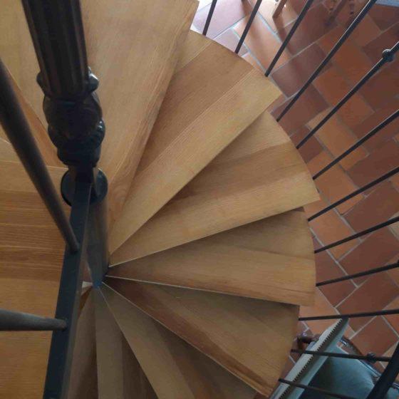 escalier bois -métal